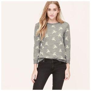 Loft Reindeer Jacquard Sweater